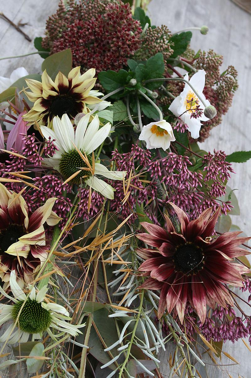 Flowers sheaf bouquet