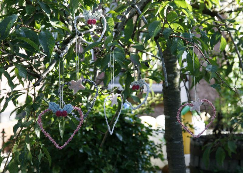 Hearts in cherry tree
