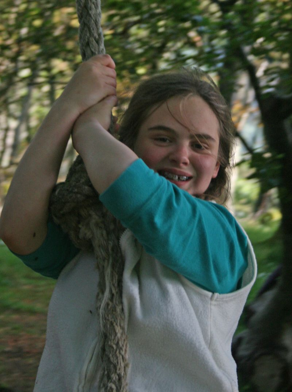 Zoe on ropeswing