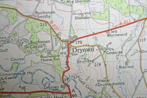 Drymen-map