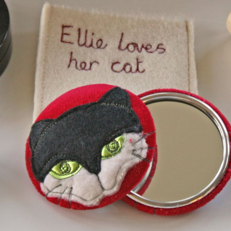 Mirror-catface-pouch