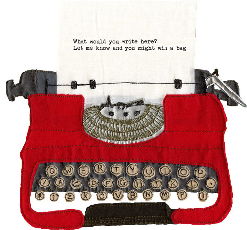 Typewriter-cut-out