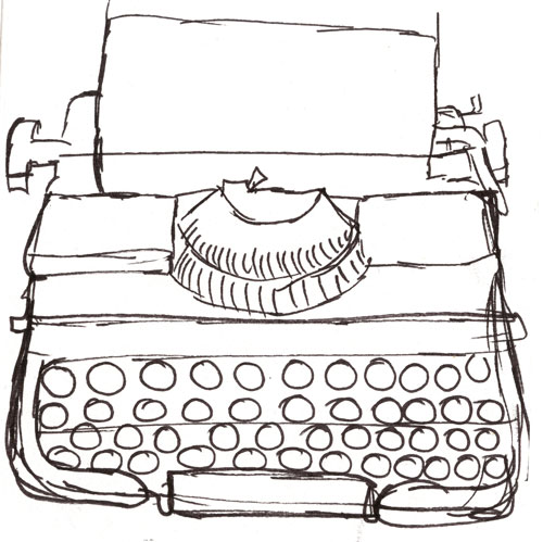 Typewriter-sketch