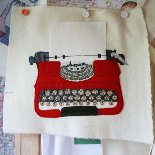 Typewriter-embroidery